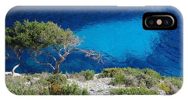 Pine Trees At Azure Waters IPhone Case