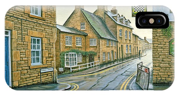 England iPhone Case - Cotswold Village-rainy Day by Paul Krapf