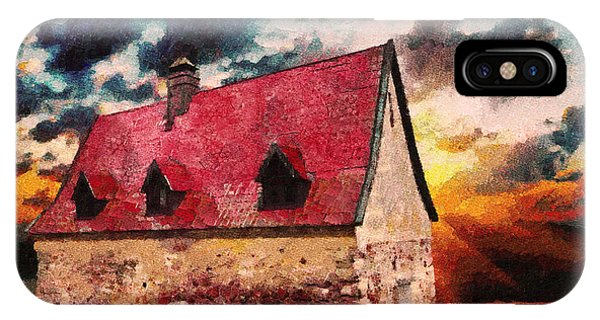 Cottage By The Sea - Abstract Realism IPhone Case