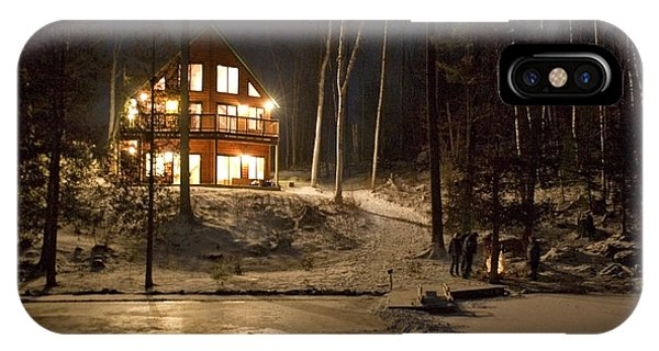 Dorset iPhone Case - Cottage Country - Winter by Pat Speirs