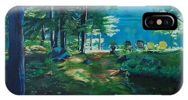 Cottage Deck View IPhone Case