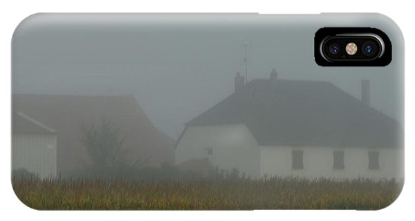 Cottage In Mist IPhone Case