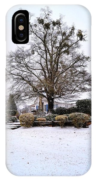 Cottage In Winter IPhone Case