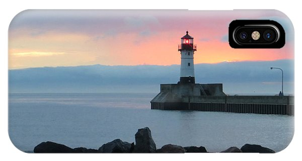 Lake Superior iPhone Case - Cotton Candy by Alison Gimpel