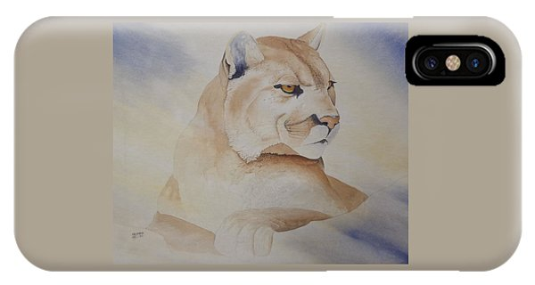 Cougar On Watch IPhone Case
