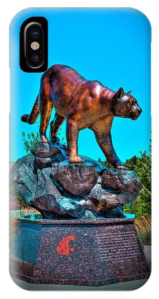 Cougar Pride Sculpture - Washington State University IPhone Case