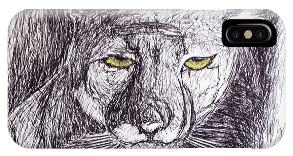 Cougar Sketch 3 IPhone Case