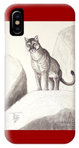 Cougar's Gaze IPhone Case