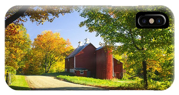 Country Barn On An Autumn Afternoon. IPhone Case