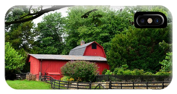 Country Barn Vineyard IPhone Case