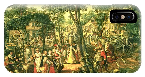 Country Celebration, 1563 Oil On Canvas IPhone Case