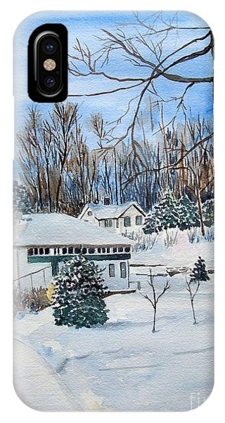 Country Club In Winter IPhone Case