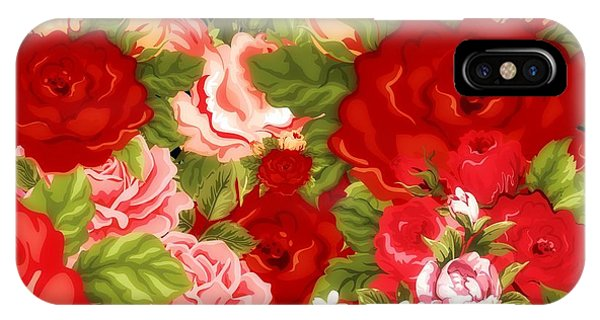 Floral Arrangement iPhone Case - Country Floral Bouquet by Chastity Hoff