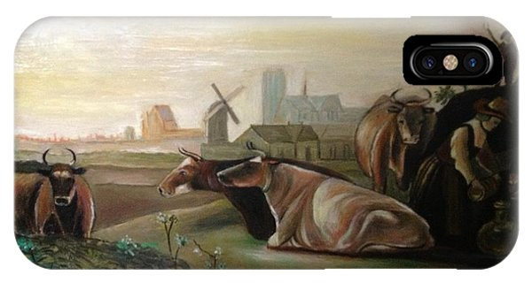 Country Landscapes With Cows IPhone Case