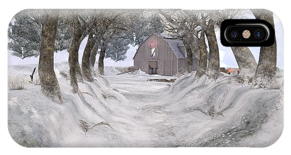 Country Lane In Winter IPhone Case