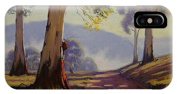 Kangaroo iPhone Case - Country Road Australia by Graham Gercken