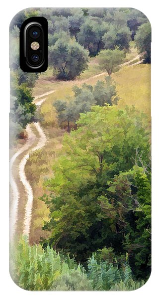 Country Road Of Tuscany IPhone Case