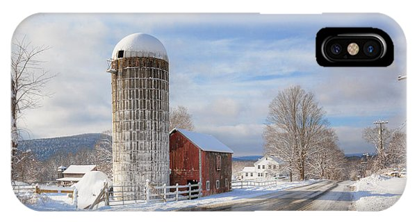 New England Barn iPhone Case - Country Snow by Bill Wakeley