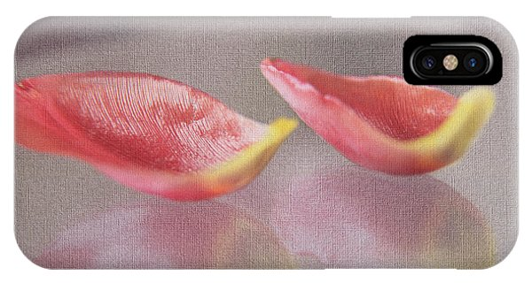Couple Of Red Tulip Petals IPhone Case
