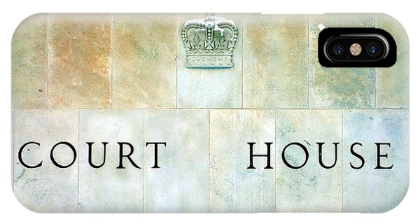 Fairness iPhone Case - Court House Sign by Valentino Visentini