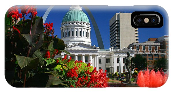 Courthouse Arch Skyline Fountain IPhone Case