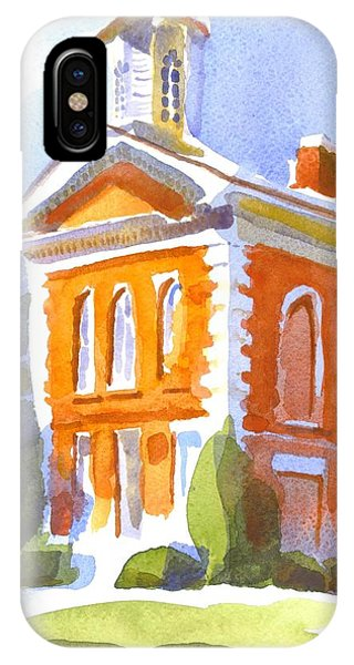 Courthouse iPhone Case - Courthouse In Early Morning Sunshine II by Kip DeVore