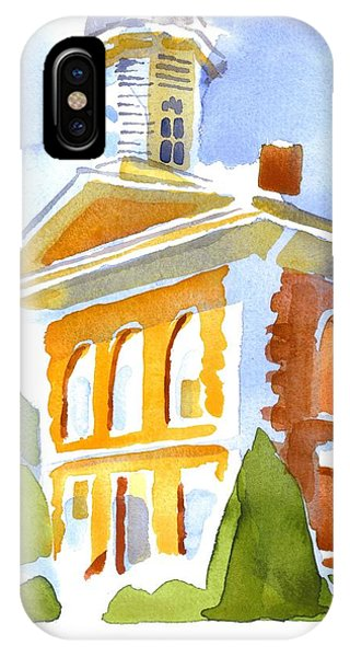 Courthouse iPhone Case - Courthouse In Early Morning Sunshine by Kip DeVore
