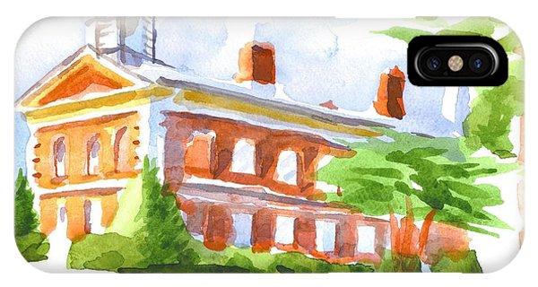 Courthouse iPhone Case - Courthouse In Summery Sun by Kip DeVore