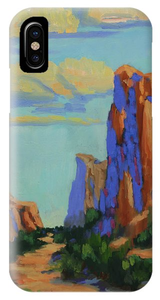 Courthouse iPhone Case - Courthouse Rock In Sedona by Maria Hunt
