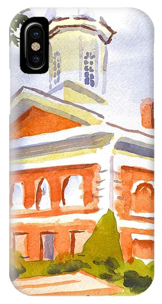 Courthouse iPhone Case - Courthouse With Picnic Table by Kip DeVore