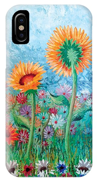 Courting Sunflowers IPhone Case