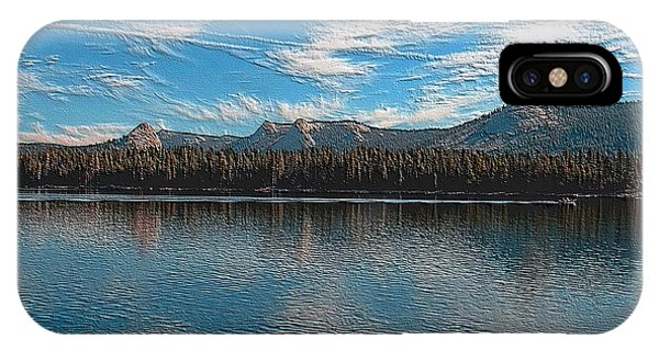 IPhone Case featuring the digital art Courtright Reservoir Version II by Visual Artist Frank Bonilla