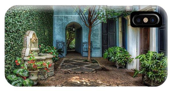 Courtyard At Rainbow Row IPhone Case