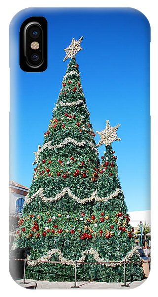Courtyard Christmas IPhone Case