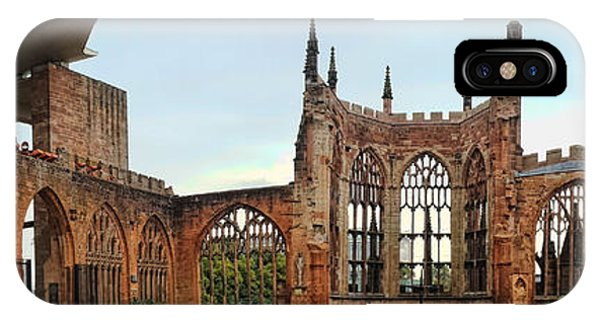 Coventry Cathedral Ruins Panorama IPhone Case