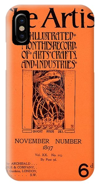 Magazine Cover iPhone Case - Cover For The Artist Magazine, November 1897 by English School