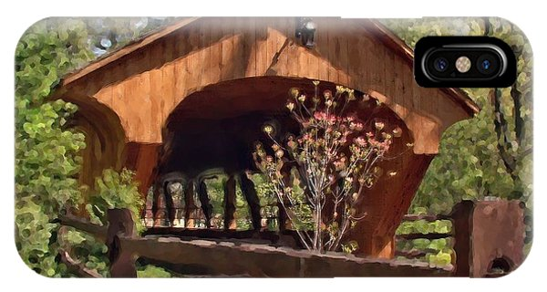 Covered Bridge At Olmsted Falls-spring IPhone Case