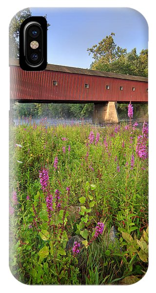 Covered Bridge West Cornwall IPhone Case