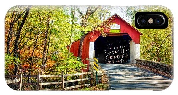 Covered Bridge In Bucks County IPhone Case