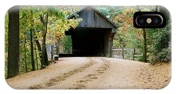 Covered Bridge In October IPhone Case