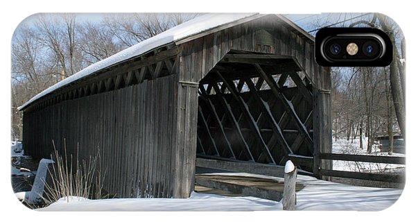 Covered Bridge In Winter IPhone Case