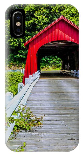 iPhone Case - Covered Bridge by Nancy Marie Ricketts