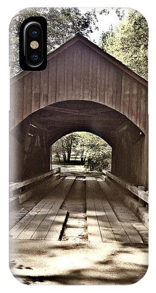 Covered Bridge Yachats Oregon IPhone Case