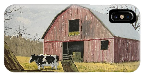 Cow And Barn IPhone Case