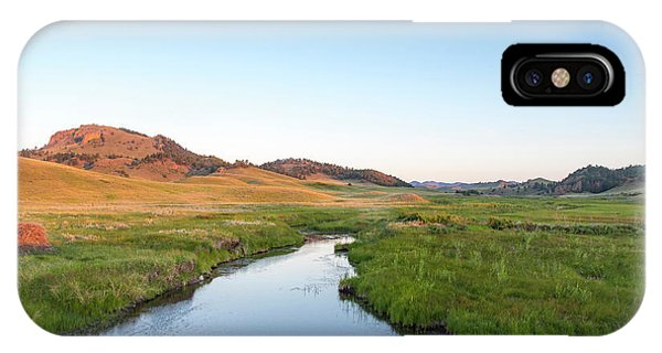 Bear Creek iPhone Case - Cow Creek In The Bears Paw Mountains by Chuck Haney