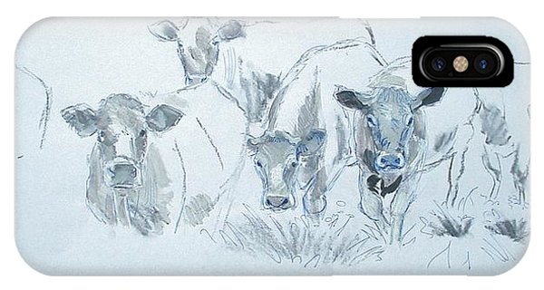 Cow Drawing IPhone Case