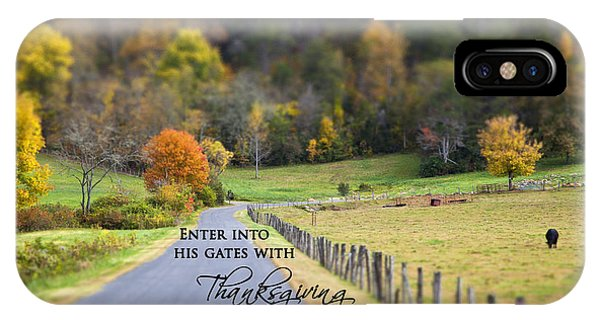 Cow Pasture With Scripture IPhone Case
