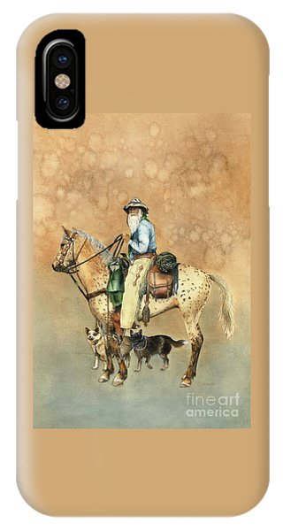Cowboy And Appaloosa IPhone Case