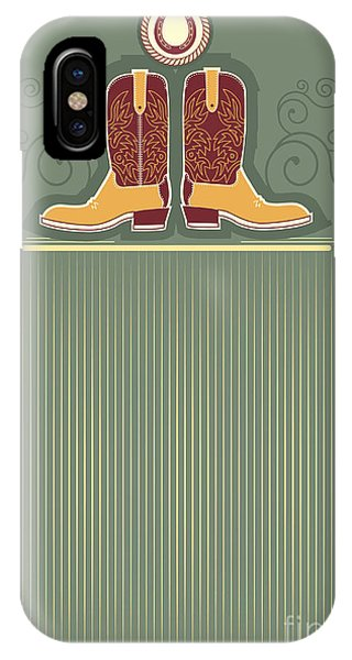 Clothing iPhone Case - Cowboy Boots.vintage Western Decor by Tancha