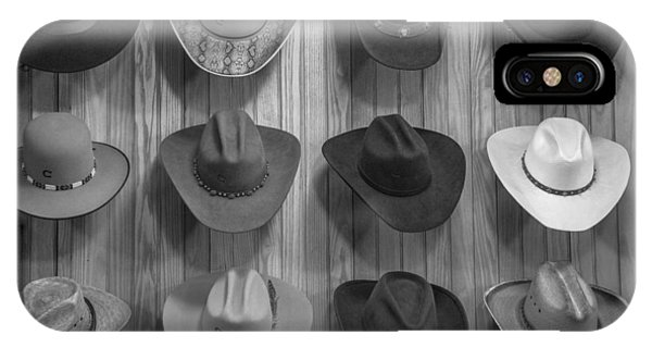 Cowboy Hats On Wall In Nashville  IPhone Case